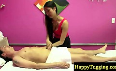 Asian masseuse milf makes guy horny