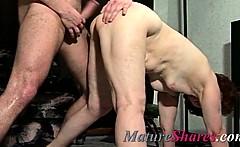 Plump mature doggystyle