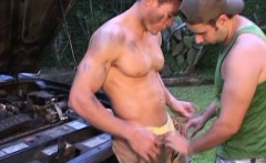 Cum On My Body After Greasy And Musclar Anal Sex