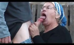 Outdoor doggie fucking with mature