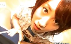 Japanese Yui Komiya having fun sucking