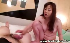 She needs to get him hard for more milf young stud fun