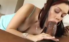Young brunette, Crystal Clear sucks and fucks a big black dick
