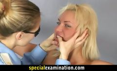 Hot blonde gets special gyno exam