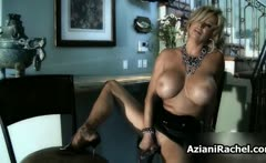 Sexy blonde babe gets horny masturbating