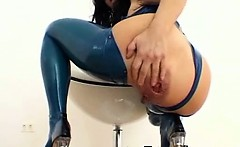 Arrogant Latex Gal Fetish Sex